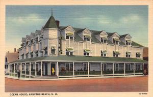 Ocean House, Hampton Beach, New Hampshire, Early Postcard, Unused