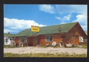 WINDHAM MONTANA SOD BUSTER MUSEUM VINTAGE ADVERTISING POSTCARD