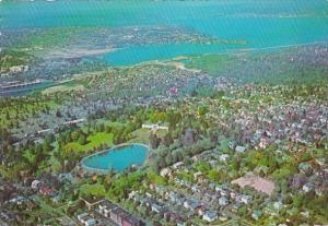 Washington Seattle Aerial View Volunteer Park 1967