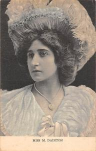 Fashion Glamorous Miss M. Dainton Portrait 1904