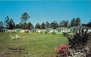 4334 GA  Folkston, 1950's   Tropical Court Motel