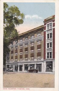 STAMFORD, Connecticut, 1900-1910's; Hotel Davenport, Classic Cars