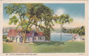 Massachusetts Cape Cod Beautiful Old Homestead Curteich