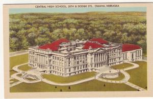 P551 JLs 1930-45 linen airview cental high school omaha nebraska