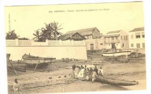 Chantier De Reparation Des Cotres, Pirogue, Boats, Goree, Dakar, Senegal, 190...