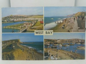 Vintage 1960s Multiview Postcard West Bay Camping Ground Boating Lake Campsite