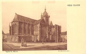 France Vieux Colmar Eglise St Martin M.Hertrich Pinx Church