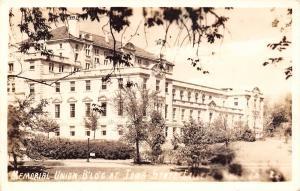 Ames Iowa State College (ISU) Greenery Frames Memorial Union RPPC 1940s