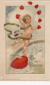 John Winsch 1913 , VALENTINE ; Cherub Juggles Hearts