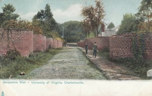 CHARLOTTESVILLE , Va, 1906 ; Serpine Wall , U of V , TUCK 2388