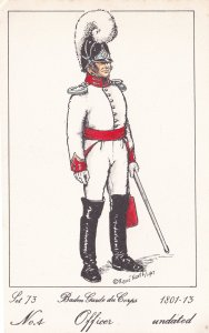 Baden Guard Du Corps French Officer Soldier Napoleonic War Uniform Postcard