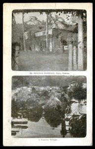 dc1942 - SAMOA Apia Postcard 1914 American Residence. Village