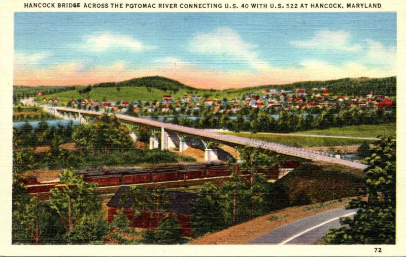 Maryland Hancock Bridge Across The Potomac River At Hancock