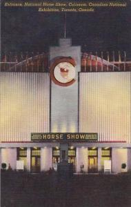 Canada Toronto Coliseum Entrance National Horse Show Canadian National Exhibi...