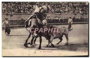 Old Postcard Bullfight Bullfight A picnic