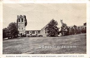 Russell Sage Chapel at Northfield Seminary East Northfield MA 1961