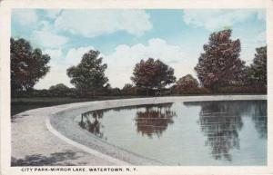 Mirror Lake at City Park - Watertown NY, New York - WB