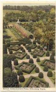Aerial View, Ballroom Garden, Governor's Palace, Willamburg, Virginia, 00-10s