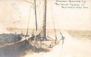 LP38  Cuba  Real photo Postcard 1906 Cyclone Schooner Wreck Disaster  Cuban