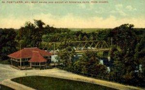 Boat House & Bridge, Riverton Park in Portland, Maine