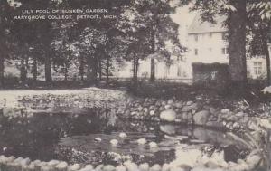 Michigan Detroit Lily Pool Of sunken Garden Marygrove College Artvue