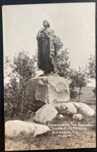 Mint Usa RPPC Postcard Native American  Sakakawer Shoshone Indian Bird Woman