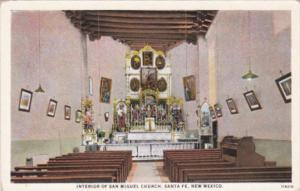 New Mexico Santa Fe Interior Of San Miguel Church