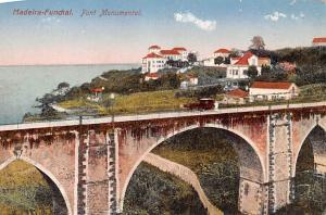 Portugal Old Vintage Antique Post Card Pont Monumental Madeira Unused