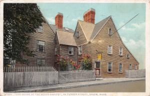 The House of Seven Gables, 54 Turner Street., Salem, MA, Early Postcard, Used