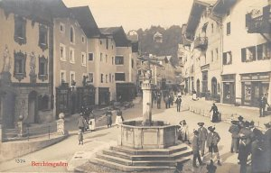 Fountains Post Card Berchtesgaden Unused