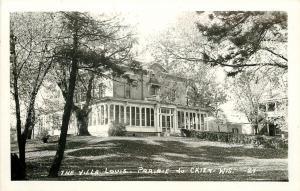 Prairie du Chien Wisconsin~The Villa Louis~RPPC Postcard