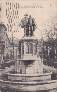 Belgium Brussells Bruxelles Monument Petit Sablon 1908