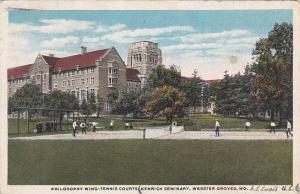 Missouri Webster Grove Philosophy Wing Tennis Courts Kenrick Seminary 1931