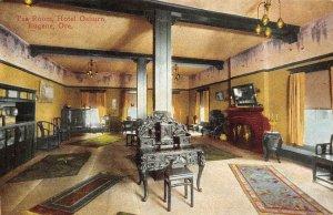 Tea Room Interior HOTEL OSBURN Eugene, Oregon c1910s Vintage Postcard