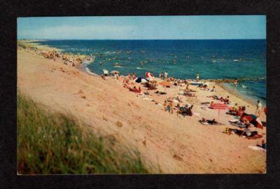 MA View CAPE COD Beach at DENNISPORT MASS Postcard PC