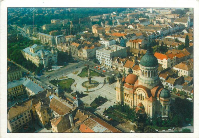 Cluj Napoca Romania the Assumption of the Virgin Orthodox Cathedral aerial view