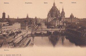 BERLIN, Germany, 1900-1910s; Rathus, Burgstrasse, Spree Dom, Schloss