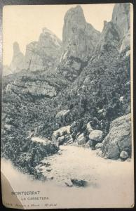 Vintage Picture Postcard Unused Montserrat La Carretera Spain LB