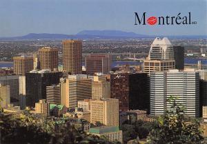 Canada Montreal Belvedere du Mont Royal, vue sur le Centre Ville
