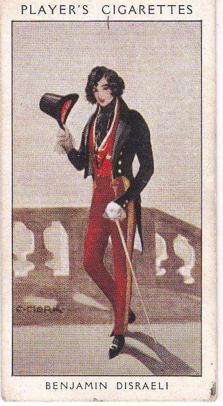 Cigarette Card Player's Dandies No 43 Benjamin Disraeli