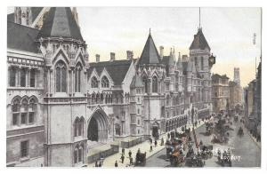 UK London Law Courts Vintage Postcard F Hartmann