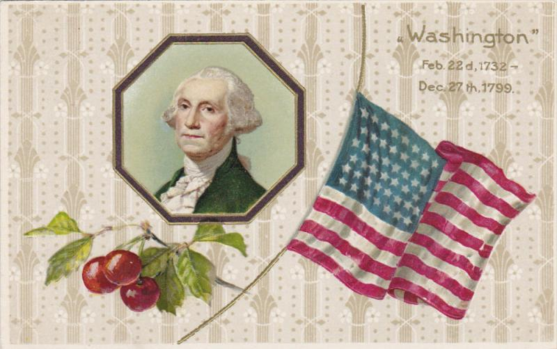 President George Washington, USA Flag, 1900-1910s