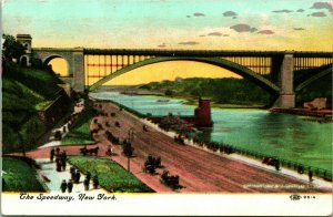 Vtg Postcard c 1908 The Speedway - New York - UDB - Unused