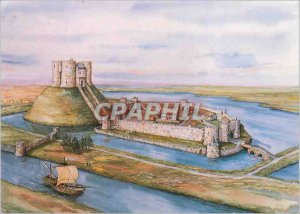 Modern Postcard York Castle Reconstruction was by Peter Russell Of How the Ca...