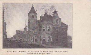Maine Augusta Post Office 1907