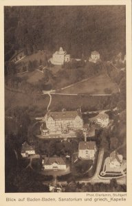 Zeppelin Postcard Germany Aerial View Gustav Eyb - Baden-Baden Sanatorium