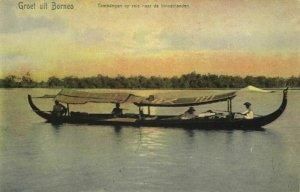 indonesia, BORNEO KALIMANTAN, Native Tambangan Boat (1899) Postcard