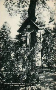 Pennsylvania Fox Chase Crucifix Behind The Grotto Artvue