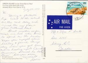 Green Island Great Barrier Reef near Cairns NQ Australia c1977 Postcard D92