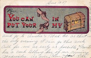 uk40893 you can put your shoes in my trunk greetings artist signed usa novelty